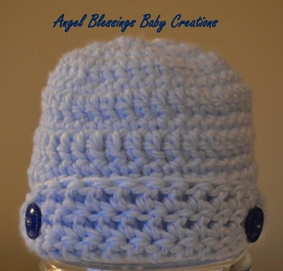 crocheted baby boy hat newsie hat photo prop winter hat unique
