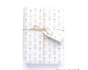 Watercolour Floral Wrapping Paper