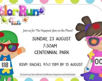 Customised Invite - Colour run - Digital