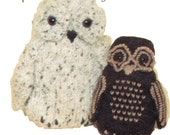 Vintage Knitted Owl Pattern PDF 552 from WonkyZebra