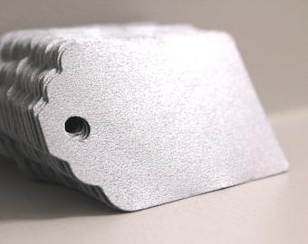 50 Metallic silver tags, Silver wedding tags, Wedding favors,  Silver paper tags, Silver gift tags, Wedding favor tags, Silver hang tags