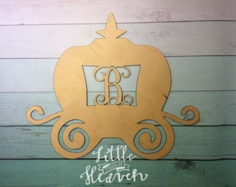 Princess Carriage - You choose name - Wood Blank/ DIY/ Unfinished/ Door Hanger