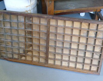 Rustic wood typesetters drawer