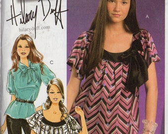 TOPS & SASH McCall's Hilary Duff Pattern 5708 Misses Sizes 12 14 16 18