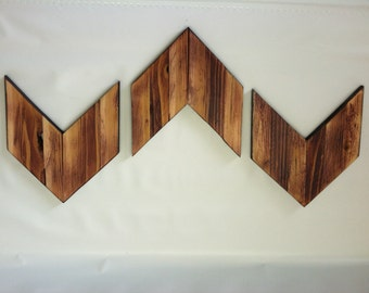 Wooden Chevron Arrows Rustic Cabin Decor (Set of 3)