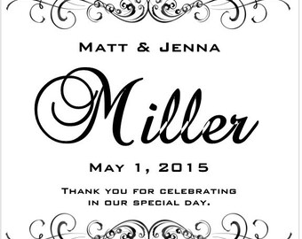 60 Black and White Wedding Favor Tags