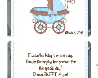 90 Brown and Blue Mini Hershey Bar Favors