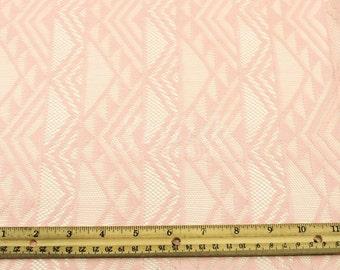 Tribal Lace Fabric Dusty Pink Geometric Lace by the yard - Elisa Pattern  - 1 Yard style 373