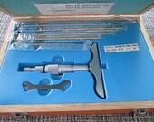 """Jewelry Maker Tool - Fowler MICROMETER RANGE CRADU / 52-225-015 / 0-6"""" / .001"""" / Never Used - Industrial or Vintage Prop"""
