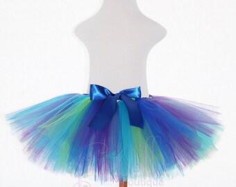 TUTU SKIRT...Peacock Tutu Skirt...Newborn Tutu...Baby Tutu...Toddler Tutu...Cakesmash Tutu...Birthday Tutu...Summer Dress