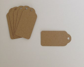 Wedding Tags blank Kraft Card x 20