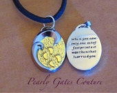 BOY'S FIRST Communion Gift-Graduation Confirmation Footprints in the Sand-Suede Necklace-Birthday Religious Gifts-Christian Jewelry