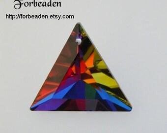 Swarovski Vintage Article 6209 Volcano Triangle Pendant 30mm (1)