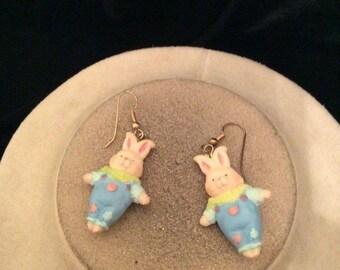 Vintage Easter Bunny Dangle Earrings