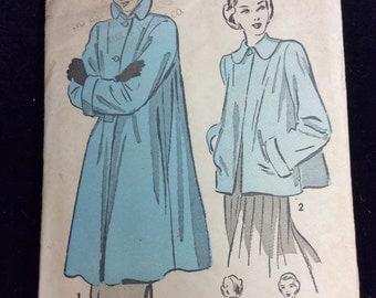 Vintage Advance Coat Pattern # 4828 Sz.14  Uncut