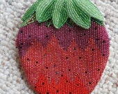 Vintage Delill Hand Made in Japan Beaded Strawberry Change Purse