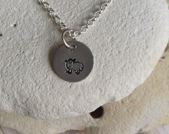 Vegan jewellery - sheep necklace - lamb jewelry - chicken necklace - animal rights jewellery - animal jewellery - handstamped