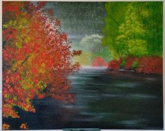 Acrylic painting-Fog