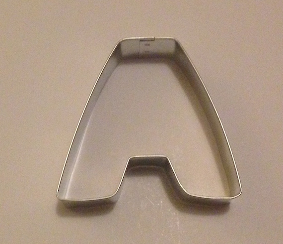 3quot letter a cookie cutter from klconfections on etsy studio for Cookie letter press