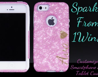 iPhone X iPhone 8/ 8 Plus iPhone 7/7 Plus Personalized Otterbox iPhone 6/6 Plus Case iPhone 5s Otterbox for iPhone 5s - Sparkly Case