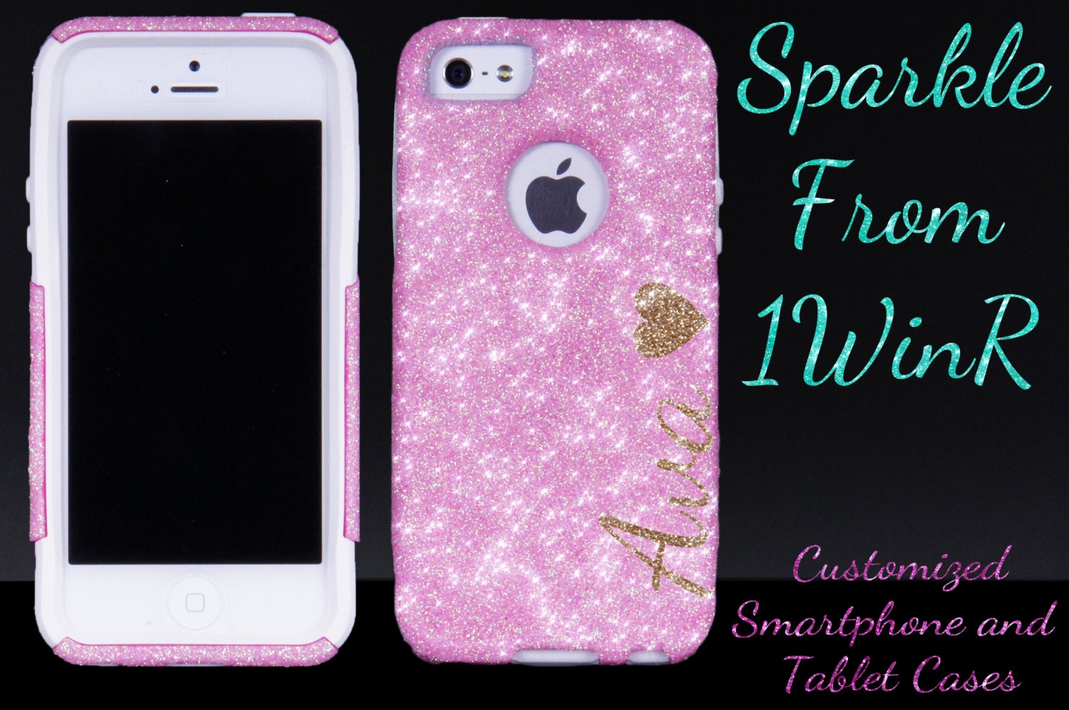 Ot otterbox iphone 6s plus covers - Iphone 7 7 Plus Personalized Otterbox Iphone 6 6 Plus Case Iphone 5s Otterbox For Iphone 5 Iphone 5s Light Pink Personalized Sparkly Case