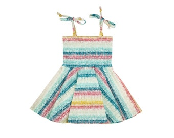Circle Skirt Dress, Girls Dress, Baby Dress, Toddler Dress, Beach Dress, Summer Dress, Skater Dress, Twirling Dress, Looming Love Dress