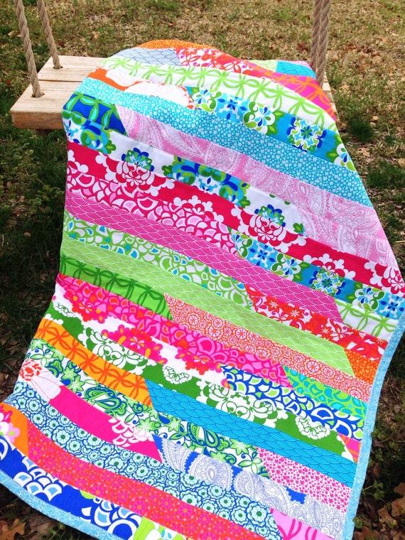 Pink Quilt Green Quilt Blue Quilt Modern By Bluesheepboutique