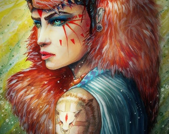princess mononoke- signed Art Print