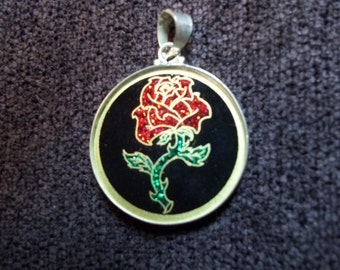 Red Rose Pendant Small