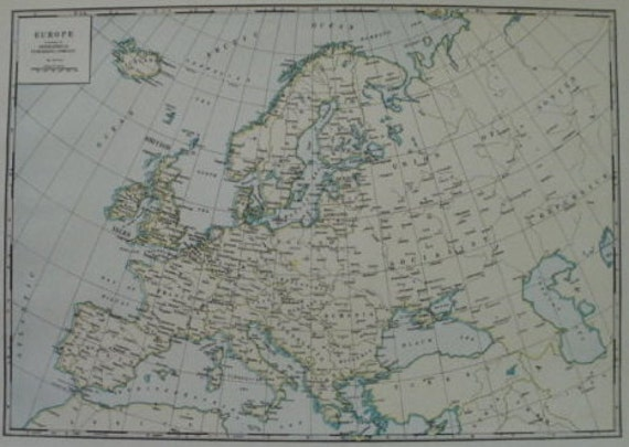 Europe mapmap of europesmall europe mapeurope map wall like this item gumiabroncs Image collections