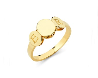 14K Yellow Gold Ring, Gold Ring, Gold Jewelry, Engraveable Ring, Engraveable Jewelry, Womens Ring, Gold, Ring, 14K Gold