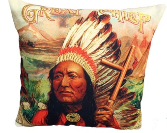 indian chief cushion ON SALE