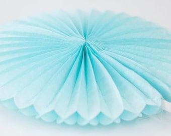 Light Blue Paper Fan 16 inch
