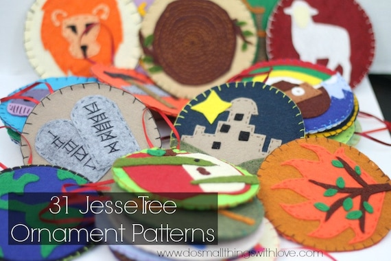 31 jesse tree ornament patterns      templates for jesse tree