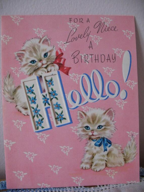 vintage birthday cats cat - photo #19