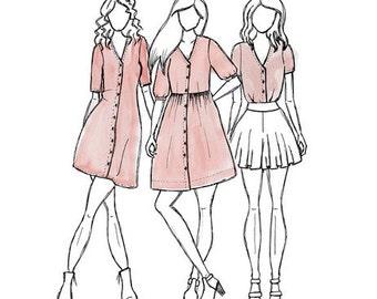 Darling Ranges Dress + Shirt Pattern- Megan Nielsen Patterns