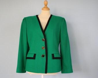 OLEG Cassini 1980's  green suit