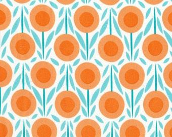Flower Bed Orange Fabric