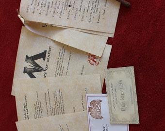 Harry Potter Hogwarts Acceptance Letter Package