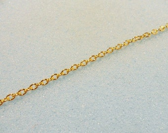 1m gold plated cable chain -  1 yard gold plated chain - 3mm x 2mm cable link chain - gold chain - gold cable chain