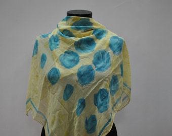 Vintage MARCO VOELUZA silk  scarf ...(647)