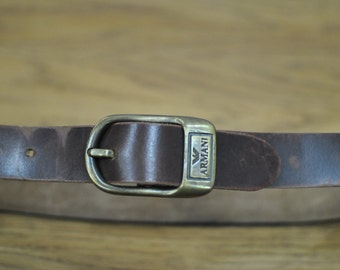 Vintage ARMANI leather belt for kids ....