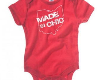 Made In Ohio Red Onsie