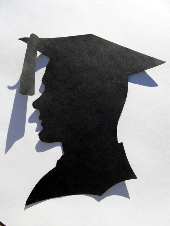 diecut graduation boy male silhouette large by luvofallvintage