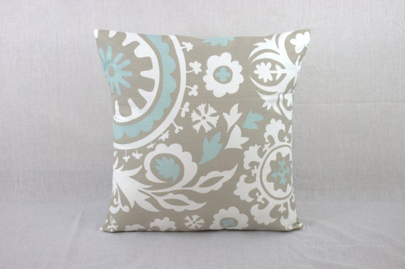 Powder Blue Decorative Pillows : Decorative Pillows for Couch Powder Blue Suzani Pillow Covers