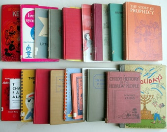 Large Lot of Vintage Jewish Children's Books