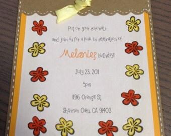 Simple floral invitation