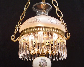 Hurricane lamp chandelier thejots vintage hurricane chandelier etsy lighting ideas aloadofball Image collections