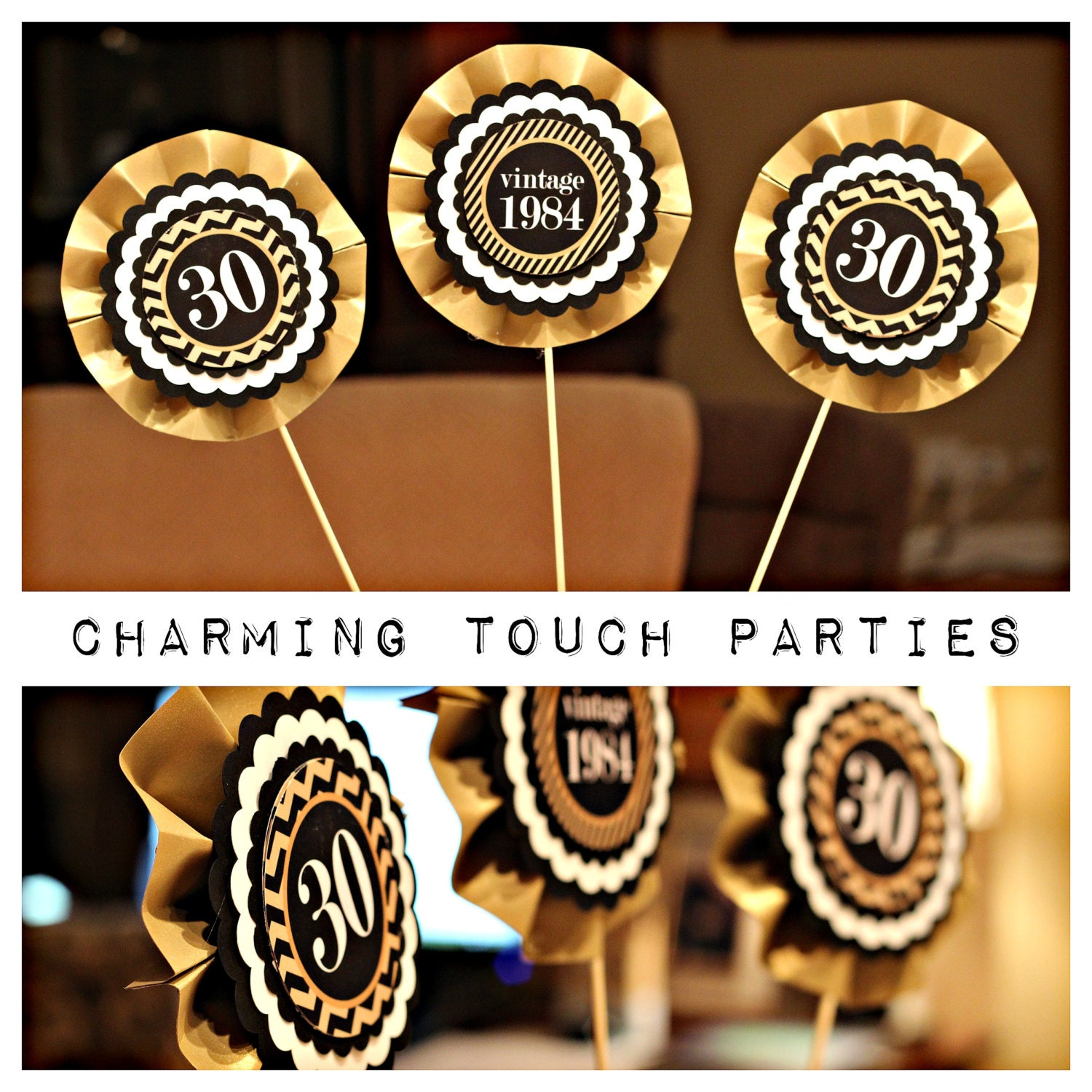 30th birthday party decor gold and black centerpiece by for 30th birthday decoration packs
