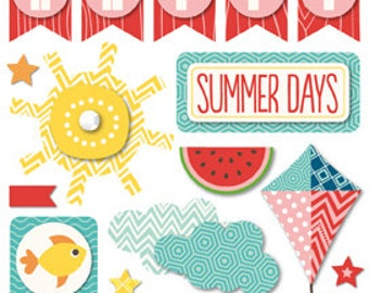 Echo Park Paper A PERFECT SUMMER Layered Stickers